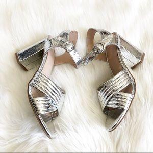 NWOT Stunning Abound Silver Heels Size 8;